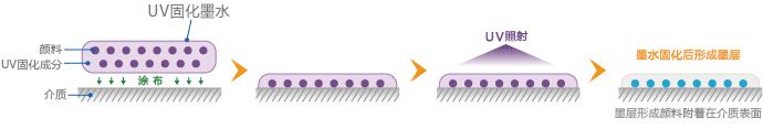 UV固化墨水的固着方法